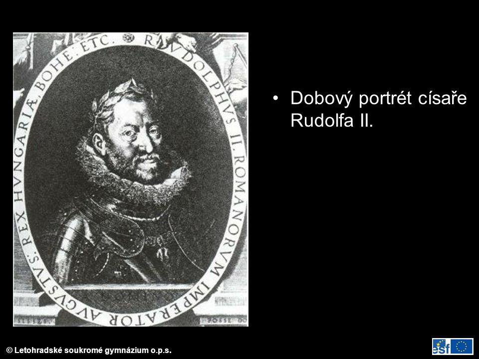 © Letohradské soukromé gymnázium o.p.s. Dobový portrét císaře Rudolfa II.