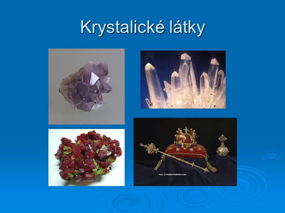 Krystalické látky