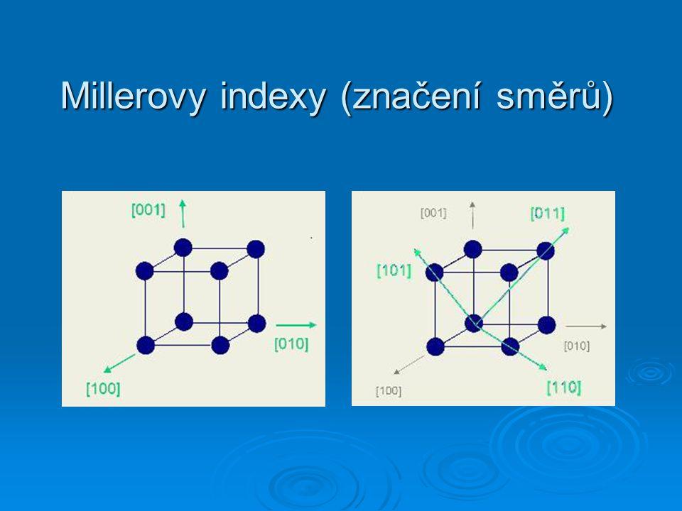 Millerovy indexy (značení směrů)