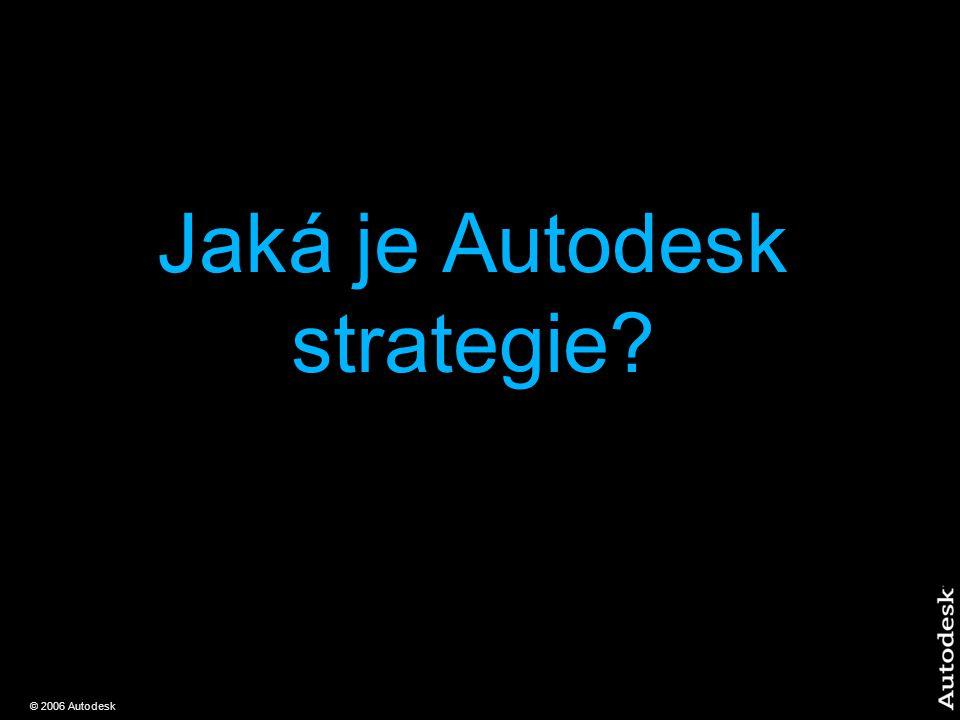© 2006 Autodesk Jaká je Autodesk strategie