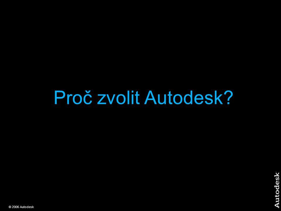 © 2006 Autodesk Proč zvolit Autodesk?