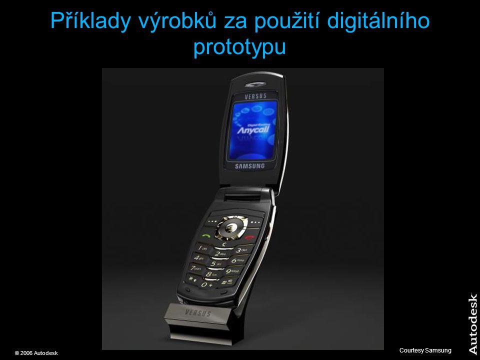 © 2006 Autodesk Příklady výrobků za použití digitálního prototypu Courtesy Samsung