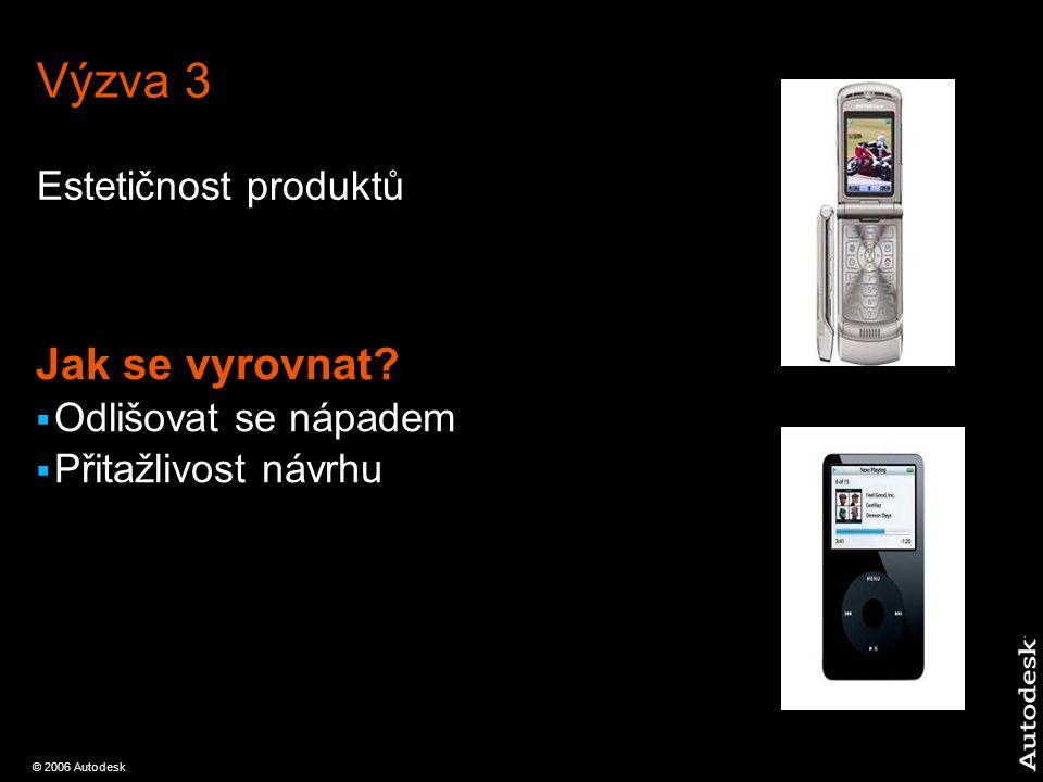 © 2006 Autodesk Výzva 3 Estetičnost produktů Jak se vyrovnat.