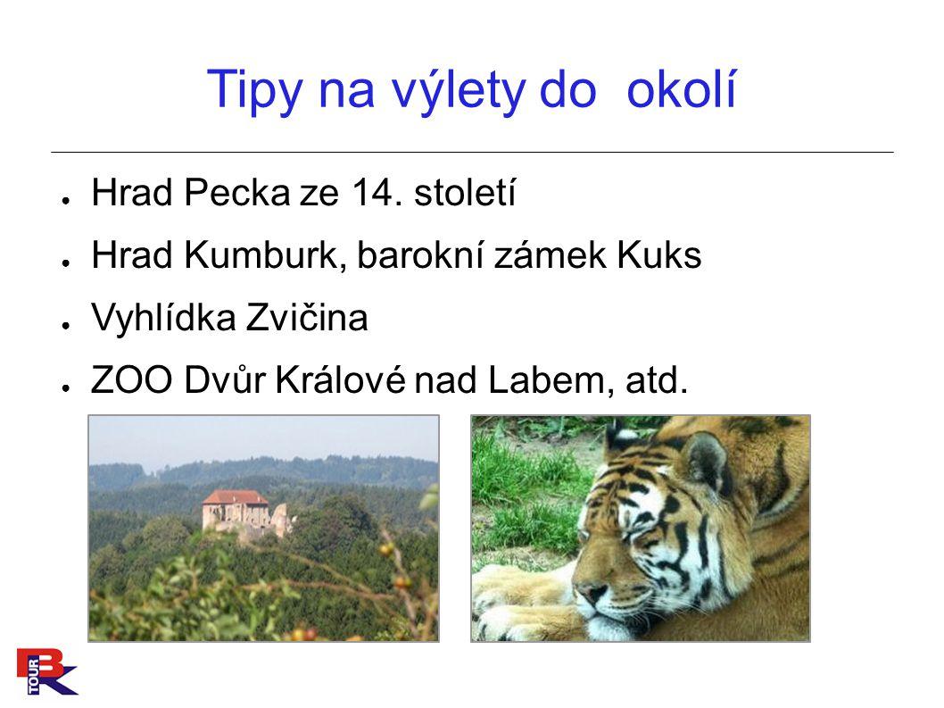 Tipy na výlety do okolí ● Hrad Pecka ze 14.