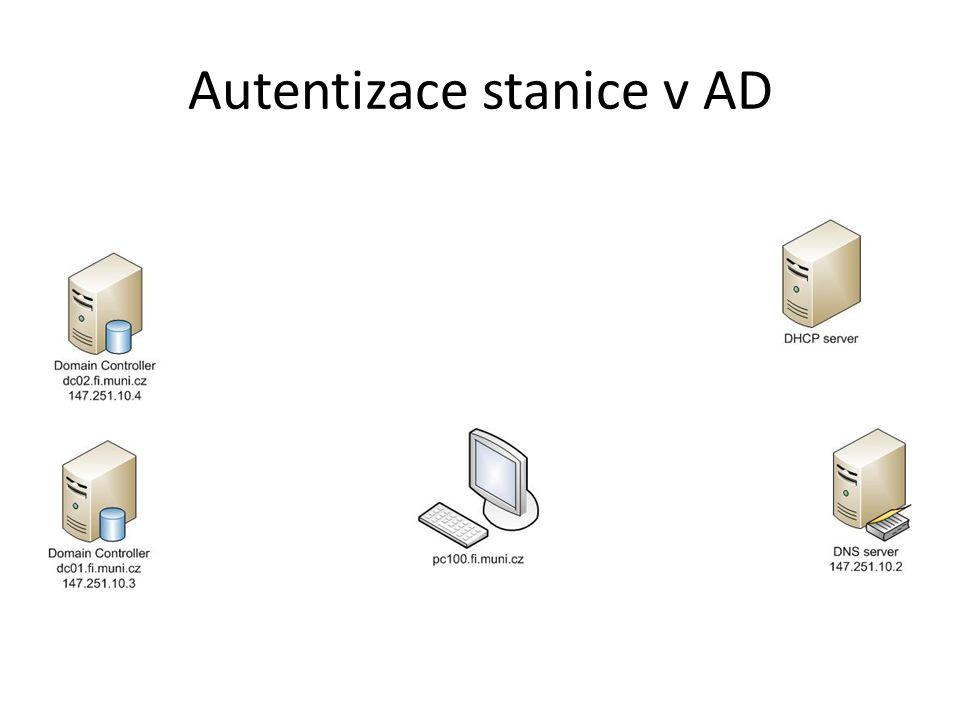 Autentizace stanice v AD