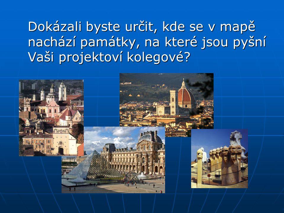 Poznávání a určování zeměpisné polohy jednotlivých památek, přírodních zajímavostí atd.