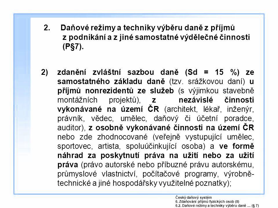 6.1 Rozdělování příjmů a výdajů spoluvlastníků.