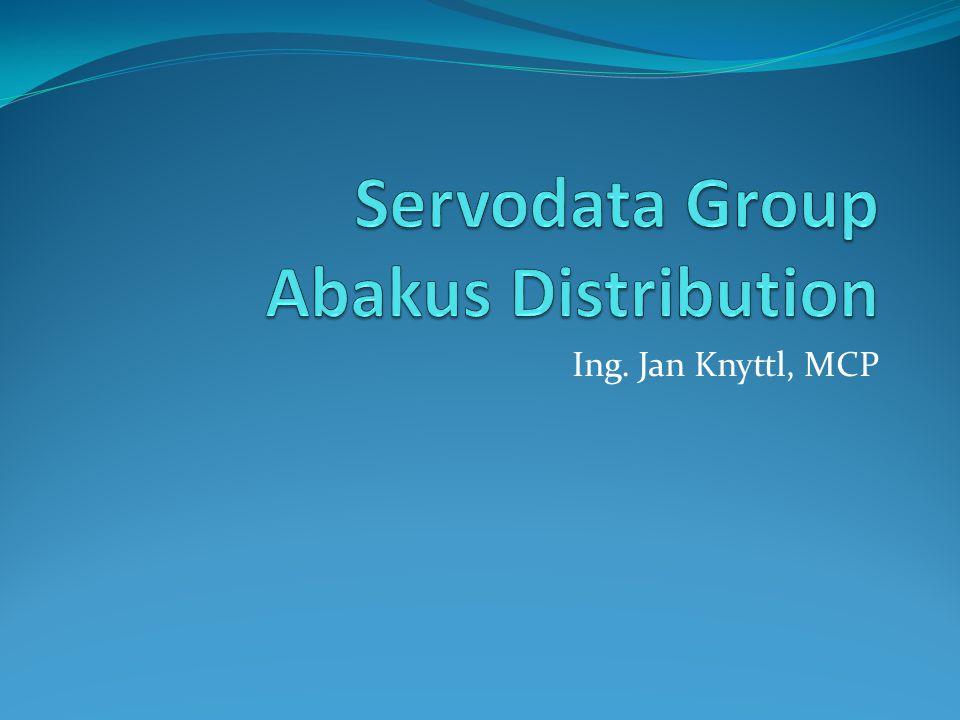 Servodata / Abakus Distribution Abakus Distribution Výsadní licenční partner Microsoftu pro veřejnou správu, zdravotnictví a školství Speciální cenové podmínky pro tyto zákaznické skupiny Abakus je čistě softwarový partner Microsoft, Adobe, Nero, Corel, Symantec Total Commander …..