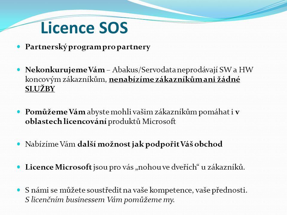 Partnerský program pro partnery Nekonkurujeme Vám – Abakus/Servodata neprodávají SW a HW koncovým zákazníkům, nenabízíme zákazníkům ani žádné SLUŽBY P