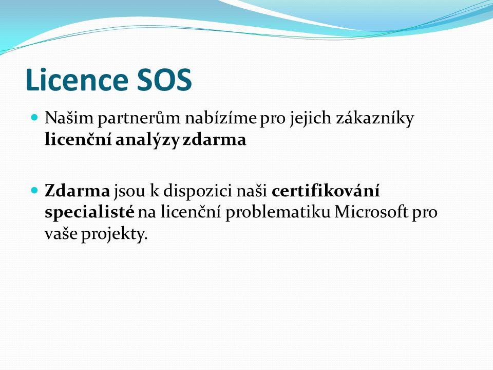 Našim partnerům nabízíme pro jejich zákazníky licenční analýzy zdarma Zdarma jsou k dispozici naši certifikování specialisté na licenční problematiku