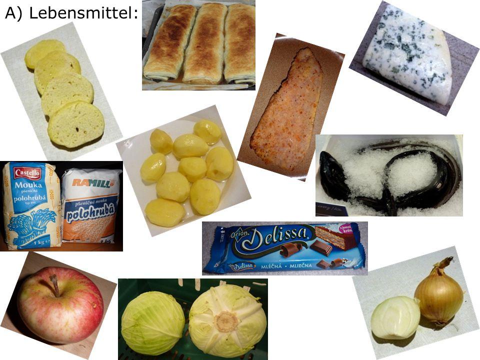 A) Lebensmittel: