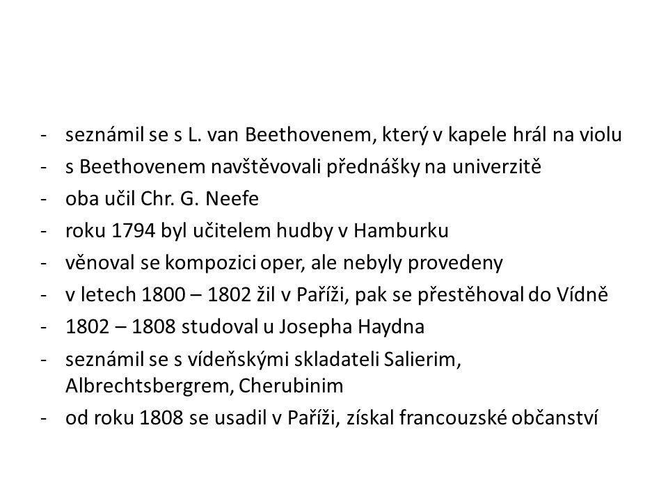 -roku 1818 se stal profesorem na konzervatoři, později jejím ředitelem -mezi jeho žáky byli H.