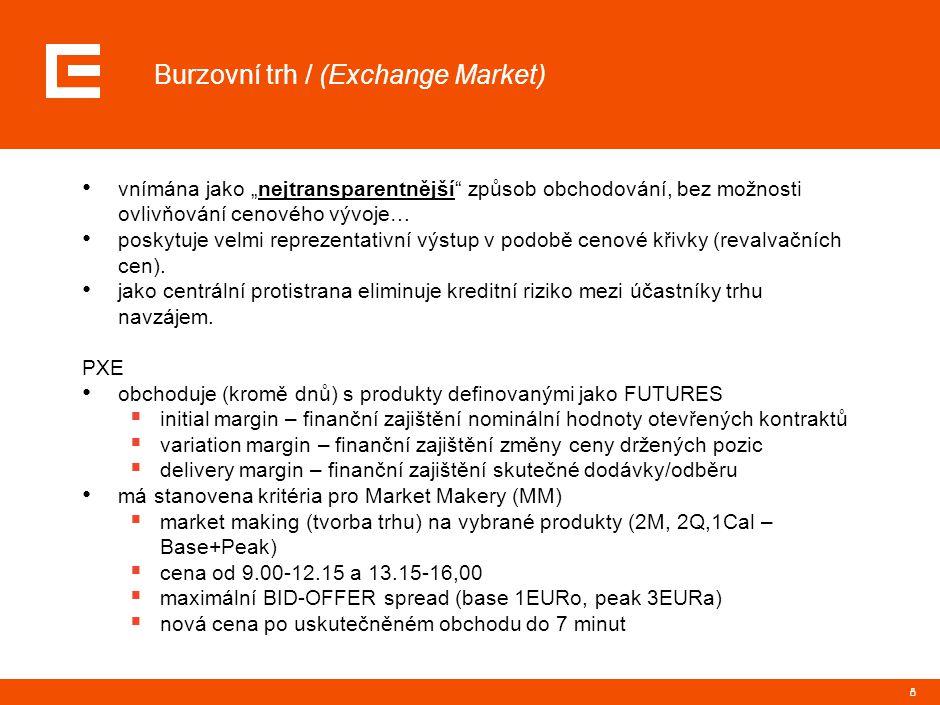 """8 Burzovní trh / (Exchange Market) vnímána jako """"nejtransparentnější"""" způsob obchodování, bez možnosti ovlivňování cenového vývoje… poskytuje velmi re"""