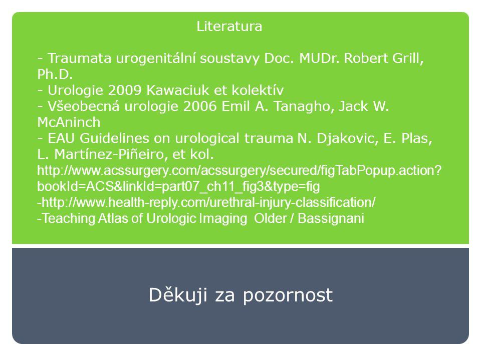 Literatura - Traumata urogenitální soustavy Doc.MUDr.