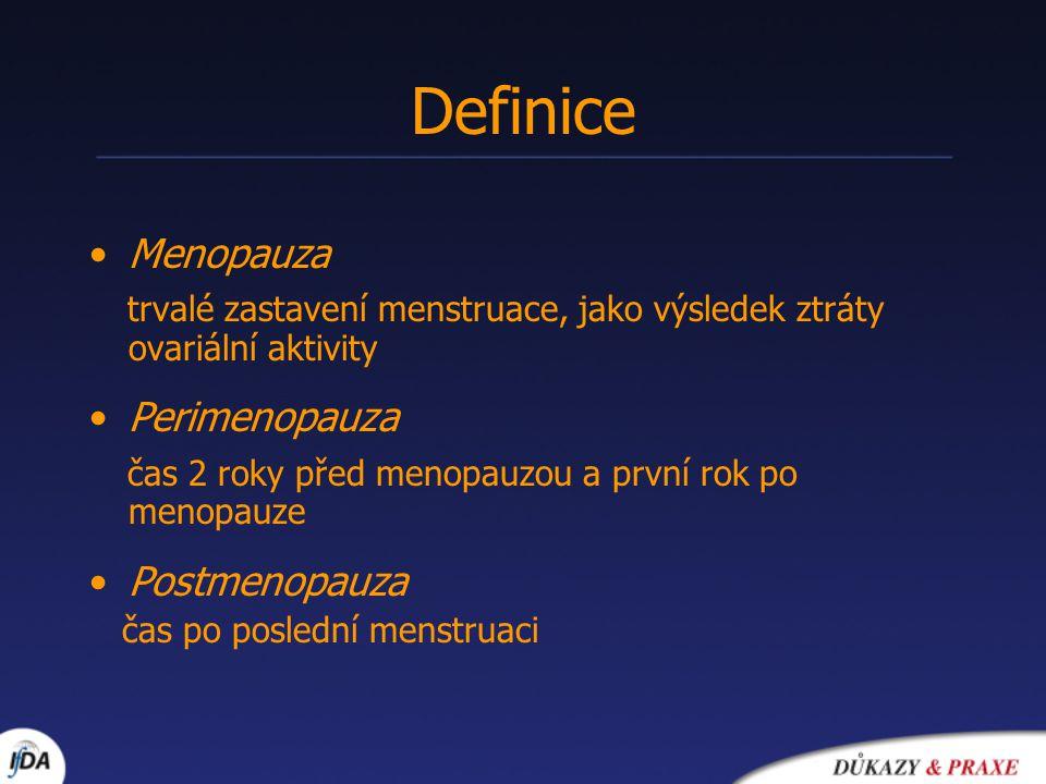 Poruchy menstruačního cyklu (COC - velmi nízké dávky E, LNG-IUS, gestageny) Vegetativní klimakterický syndrom (COC – velmi nízké dávky E) Indikace terapie (perimenopauza)