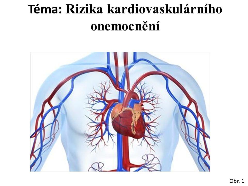 Téma: Rizika kardiovaskulárního onemocnění Obr. 1