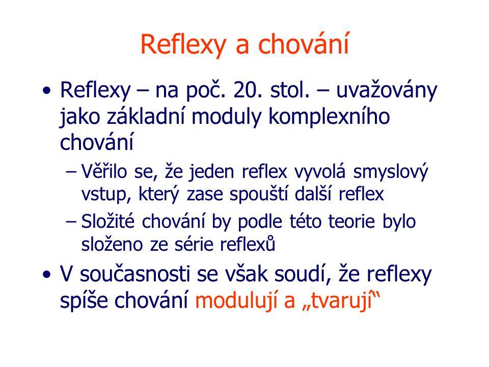 Reflexy a chování Reflexy – na poč.20. stol.
