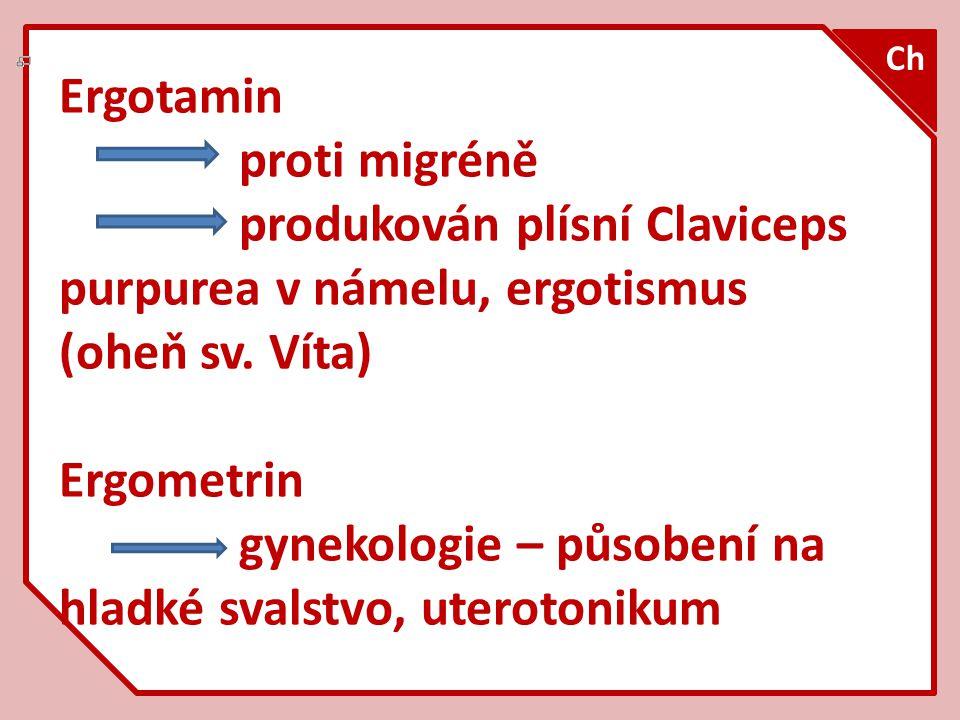 Strychnin typický křečový jed, hořká chuť protijed barbituráty dříve k hubení krys 1.