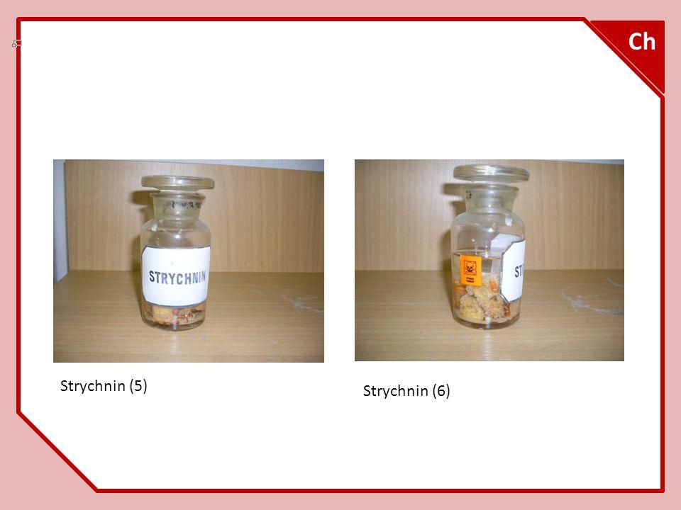 Strychnin – struktura C 21 H 22 N 2 O 2 Ch (7)
