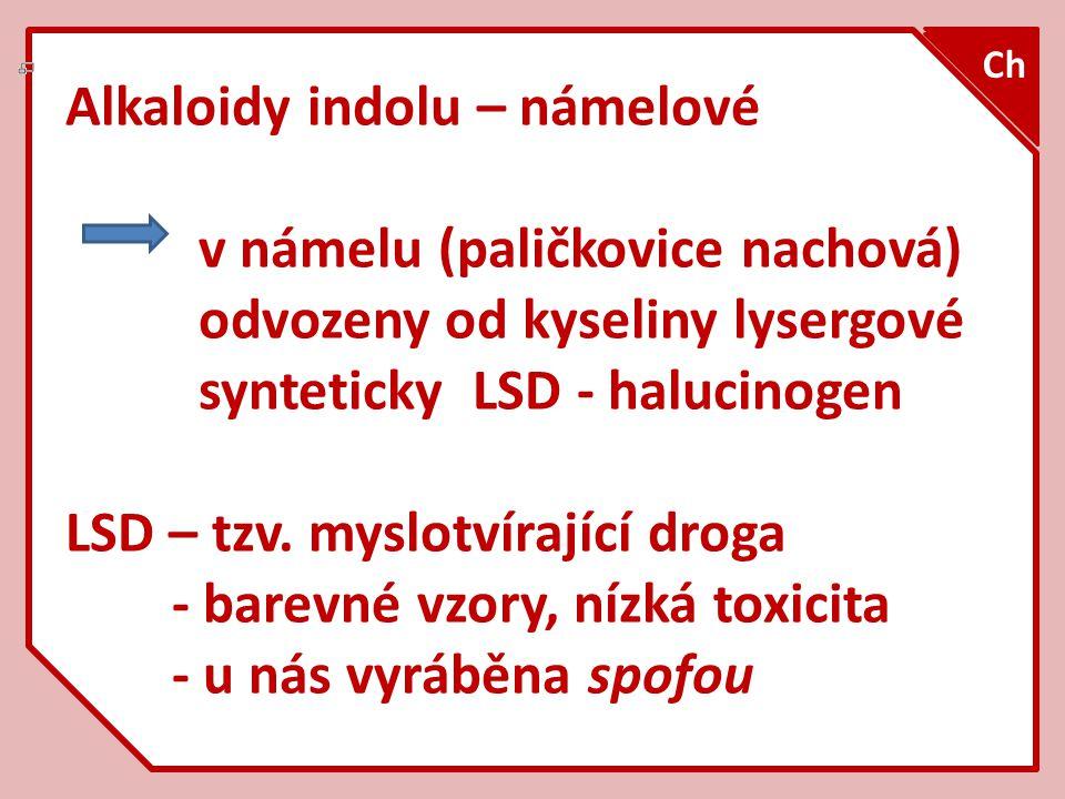 Paličkovice nachová – vřeckovýtrusá houba – podhoubí sklerocium Sklerocium = námel Ch Claviceps purpurea (1)
