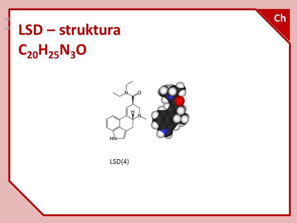 LSD – struktura C 20 H 25 N 3 O Ch LSD(4)
