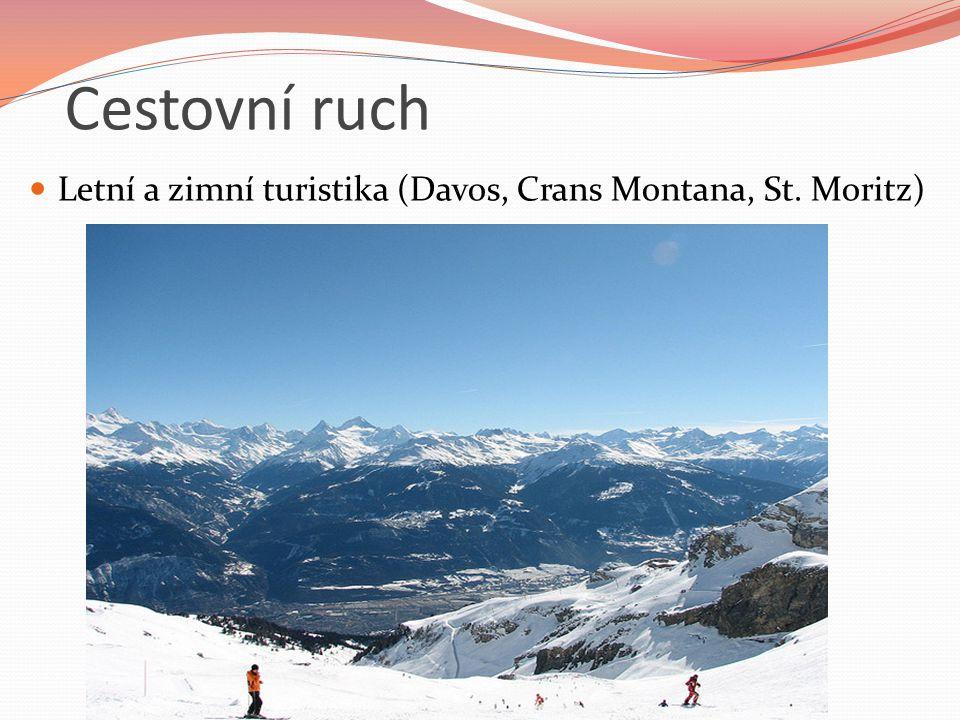 Cestovní ruch Letní a zimní turistika (Davos, Crans Montana, St. Moritz)