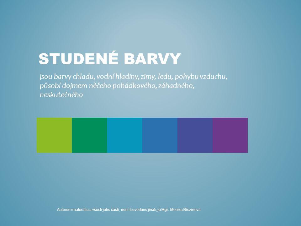 KOMPOZICE V STUDENÝCH BARVÁCH Technika: malba vodovými barvami Pomůcky: čtvrtka formátu A3, tužka, vodové barvy, štětce – ploché i kulaté, hadr, podložka, nádoba na vodu Cíl: seznámit děti s teorií barev, zdokonalit techniku malby, prožít kvalitu barev, relaxace Postup: 1.