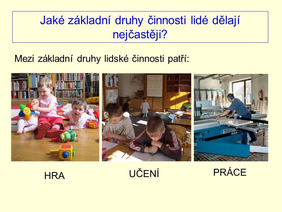 Čím se liší hra od učení a práce.HRA je spontánní a dobrovolná činnost.