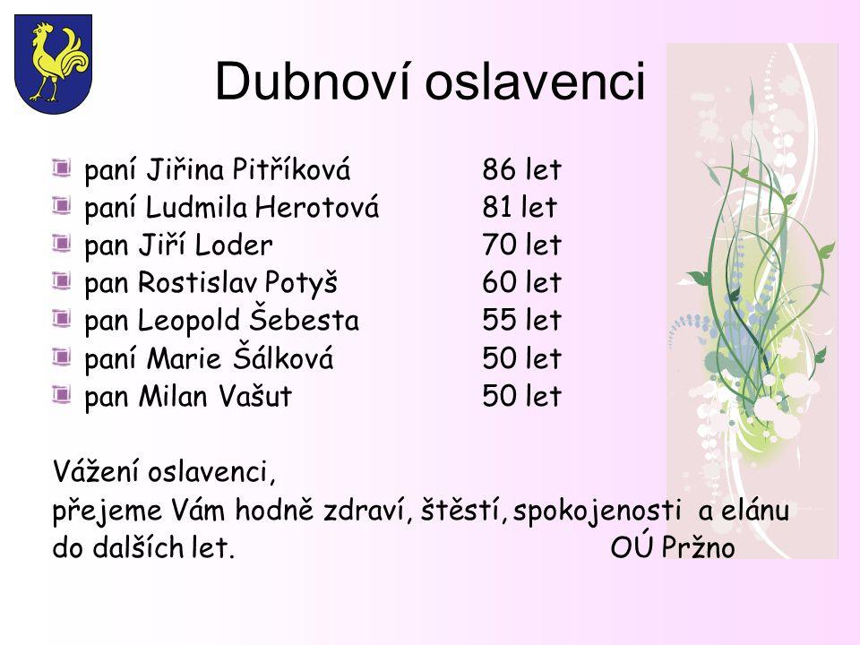 Rozšíření služeb v obci Miluše Skulinová rozšiřuje svou 15-ti letou praxi kosmetiky o provozovnu na Pržně v budově bývalé mateřské školky,přední vchod u autobusové zastávky.