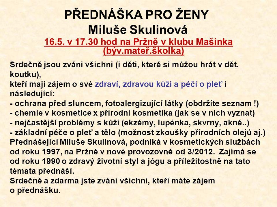 Oznámení o konání ZO Pržno Svolávám veřejné zasedání Zastupitelstva obce Pržno, ve čtvrtek 12.