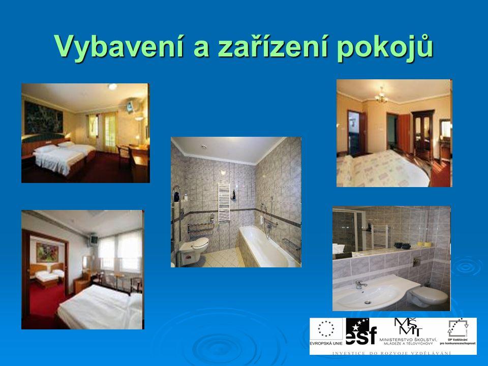 Vybavení a zařízení pokojů