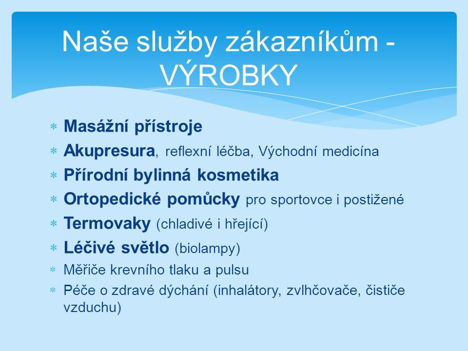 Naše služby zákazníkům – JAK U NÁS NAKUPOVAT  Pomocí internetového formuláře http://www.aureamedica.ic.cz/obj_formular.php  běžným e-mailem - na adrese: aurea.medica@seznam.cz aurea.medica@seznam.cz  faxem na čísle 544 217 747 nebo případně doporučeným dopisem  Osobně v prodejní době nebo domluvou
