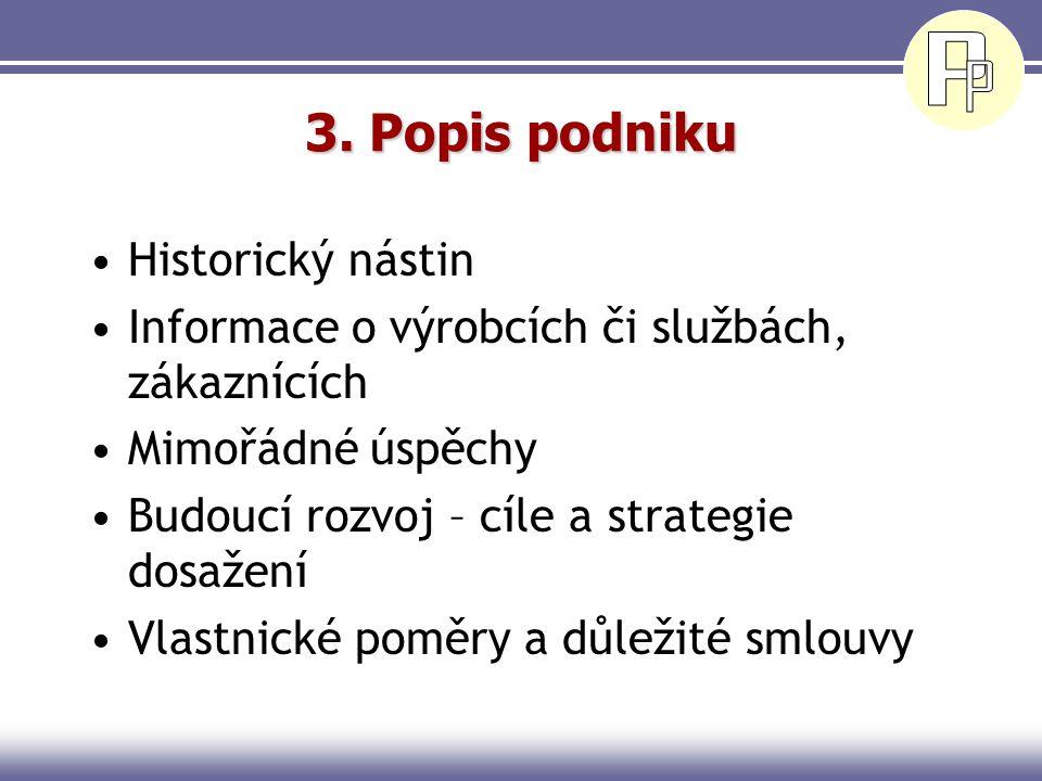 2. Shrnutí Je nejdůležitější částí PP Nesmí být chápáno jako úvod Musí zaujmout a nalákat ke čtení dalších kapitol Ne kratší než 2 strany a delší než