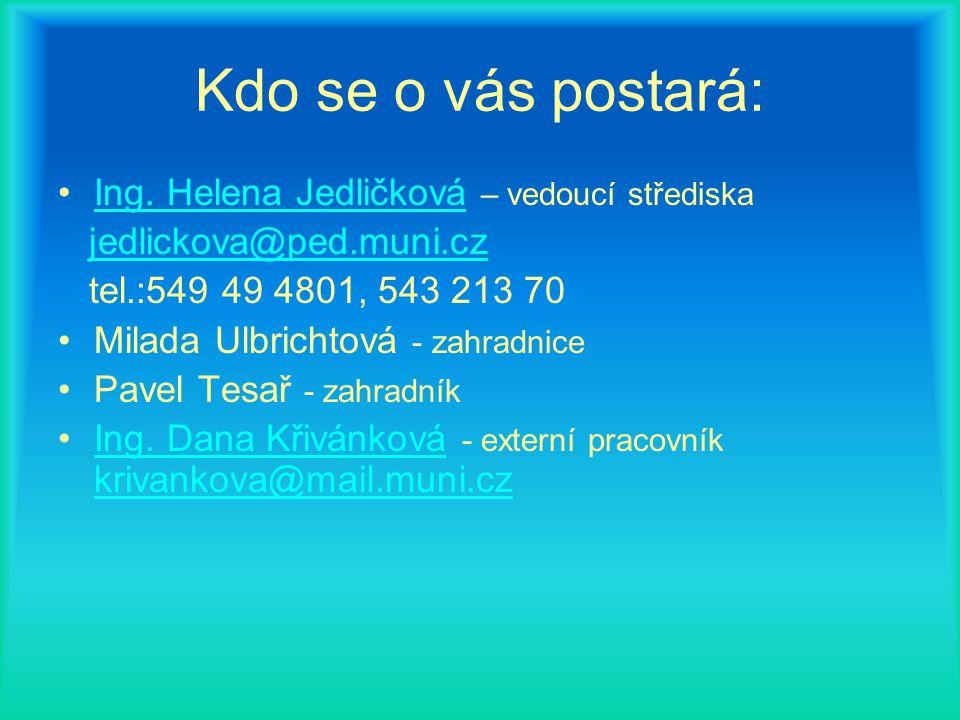 Kdo se o vás postará: Ing. Helena Jedličková – vedoucí střediska Ing.