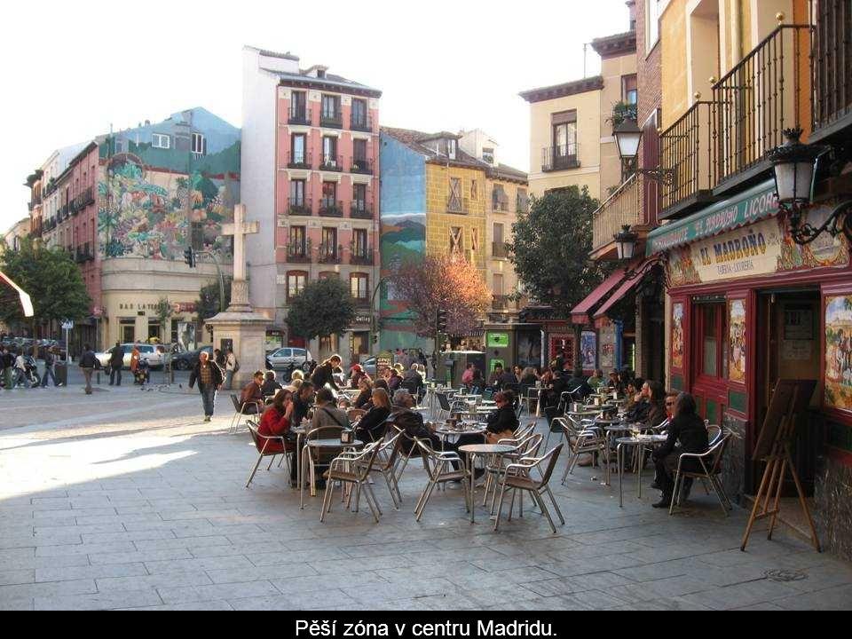 Budovy centra Madridu.