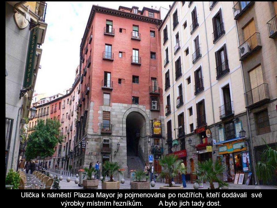 Pěší zóna v centru Madridu.
