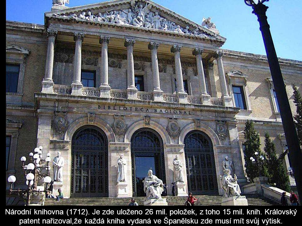 Museum Prado.Bylo postaveno za panování Carlose III.
