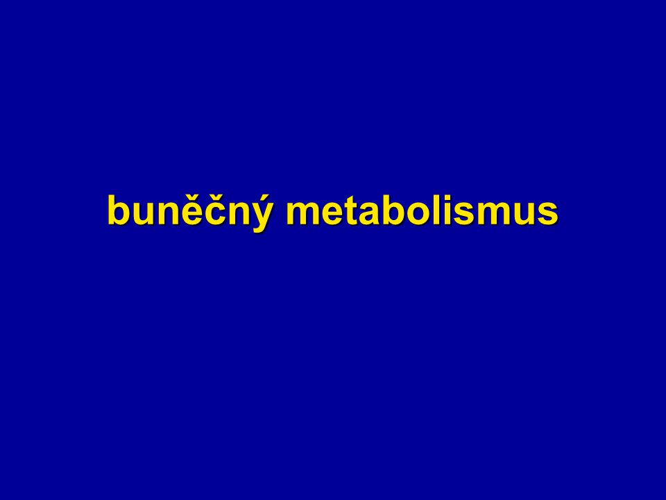 buněčný metabolismus