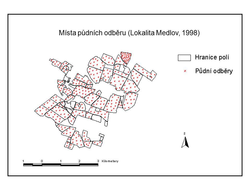 Tvorba map obsahu prvků tab.1 naměřena data  Odběr dat v terénu  Zpracovaní dat na počítači