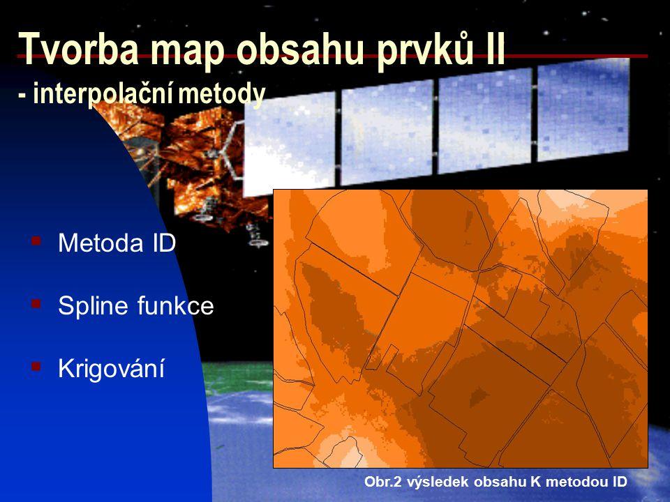 Mapy obsahu prvků (pole 2586-pšenice ozimá ) draslík fosfor Hodnocení výsledků půdních rozborů MEHLICH III Ph vápník neutrální sl.