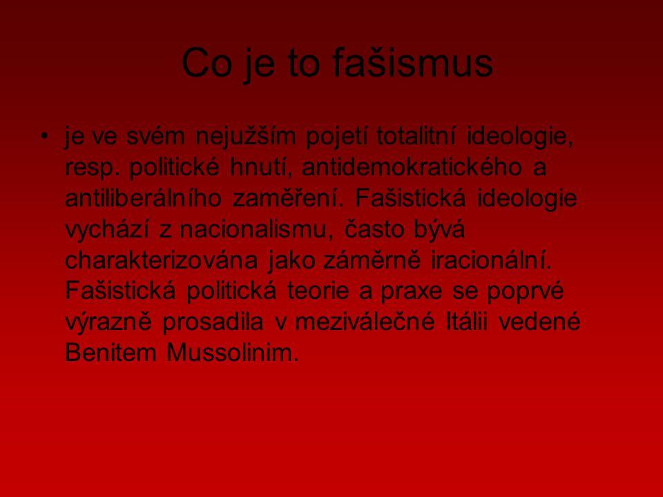 Co je to fašismus je ve svém nejužším pojetí totalitní ideologie, resp.