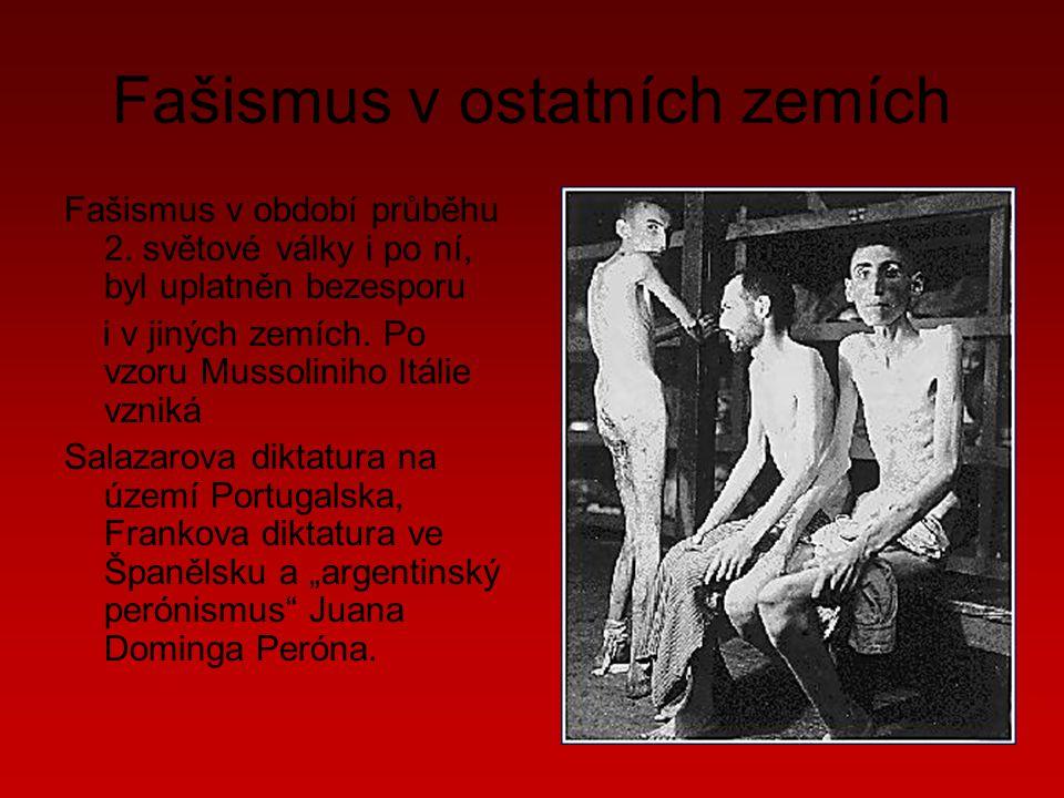 Fašismus v ostatních zemích Fašismus v období průběhu 2.