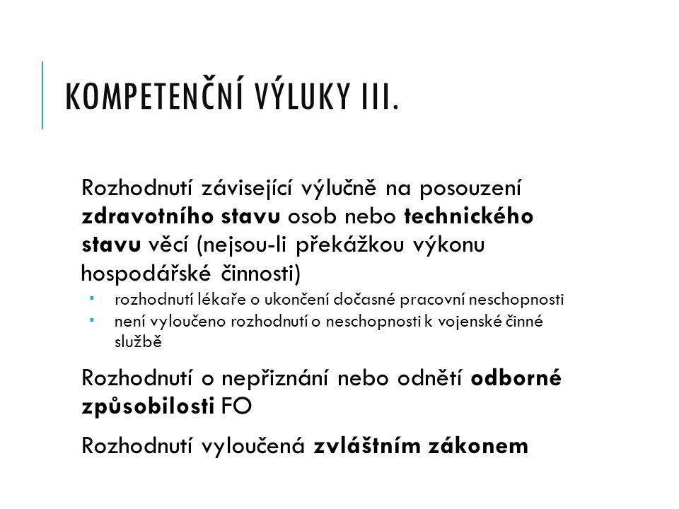 KOMPETENČNÍ VÝLUKY II.