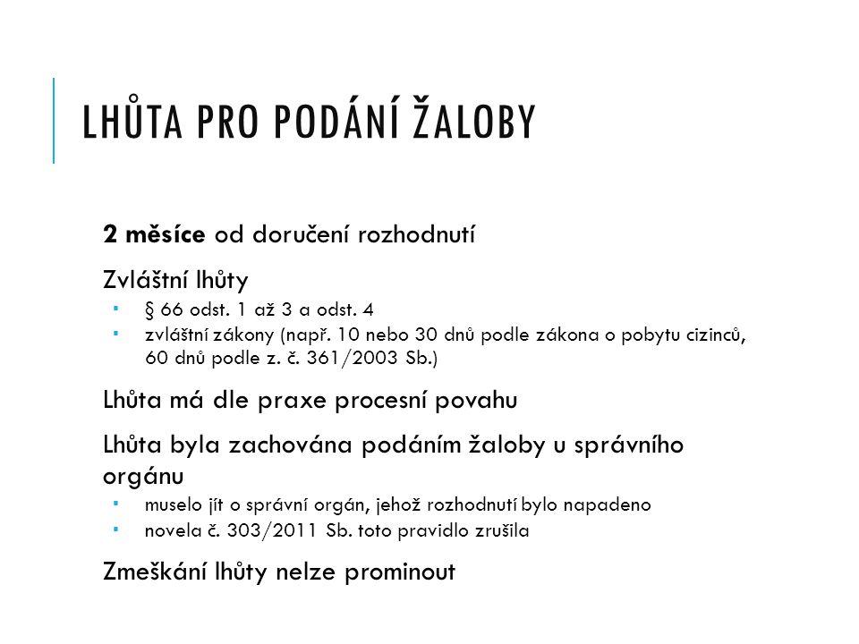 NÁLEŽITOSTI ŽALOBY IV.