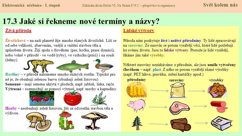 17.3 Jaké si řekneme nové termíny a názvy.Elektronická učebnice - I.