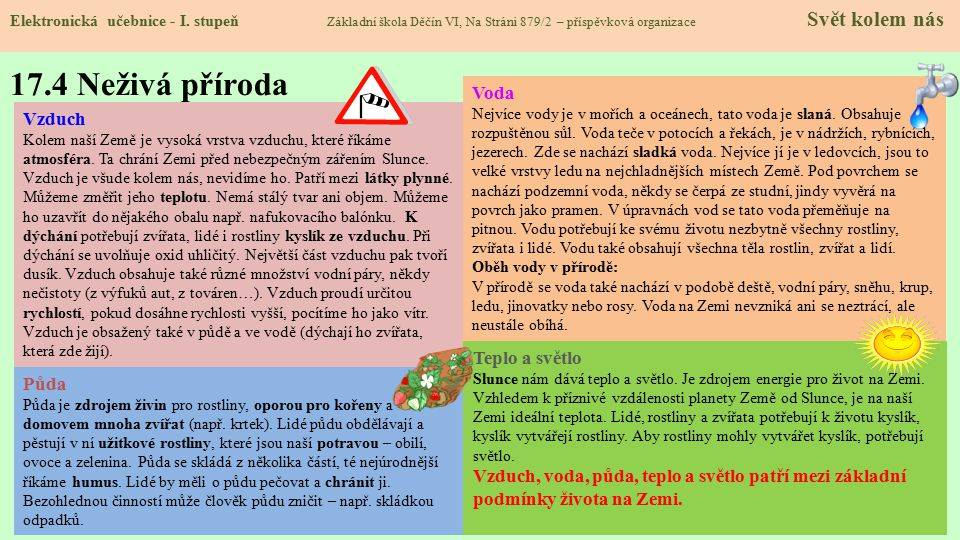 17.4 Neživá příroda Elektronická učebnice - I.