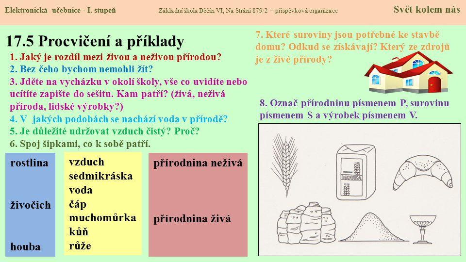17.5 Procvičení a příklady Elektronická učebnice - I.