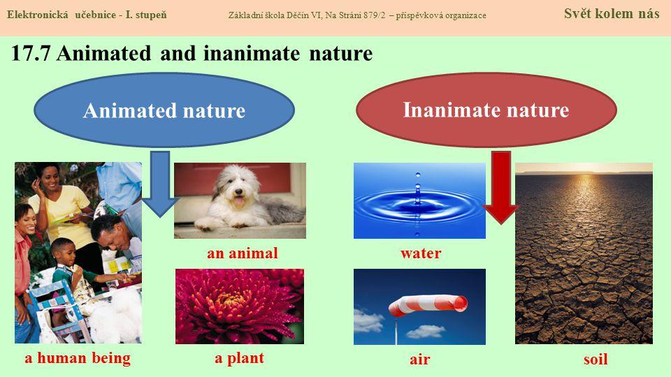 17.7 Animated and inanimate nature Elektronická učebnice - I.