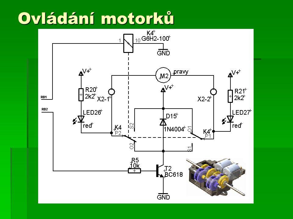 Komunikace pomocí Bluetooth OEMSPA310 Řídící počítač => robot 1 Bajt - povel Robot => řídící počítač 1 Bajt - druh dat 2 Bajt - data 3 Bajt - data 9600 8N1