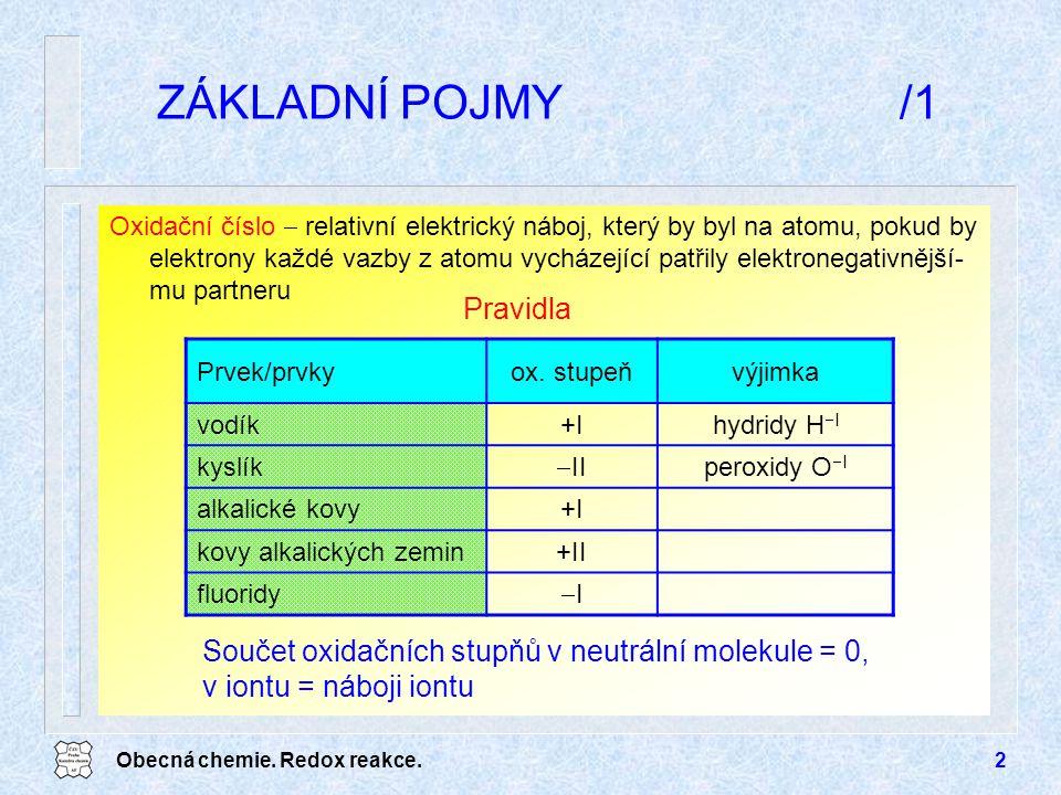 Obecná chemie.Redox reakce.13 TYPY ELEKTROD/2 Elektrody I.